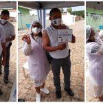 Policiais são vacinados contra a Covid-19 em Vera Mendes e campanha de imunização avança